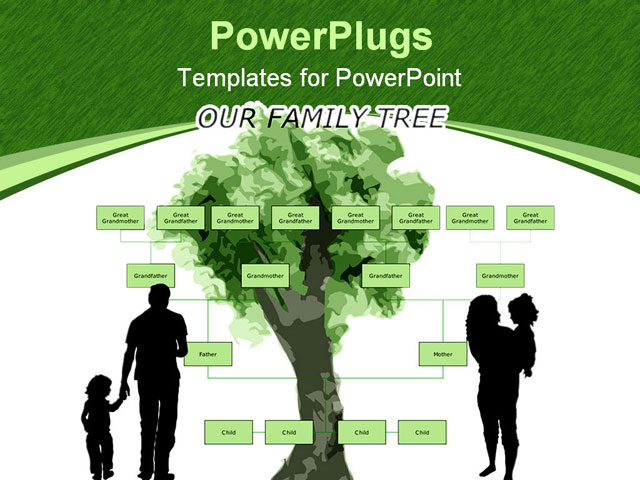 family health tree template. PowerPoint PPT Template