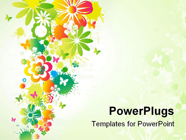 Flower Template Powerpoint Images Template Design Free Download