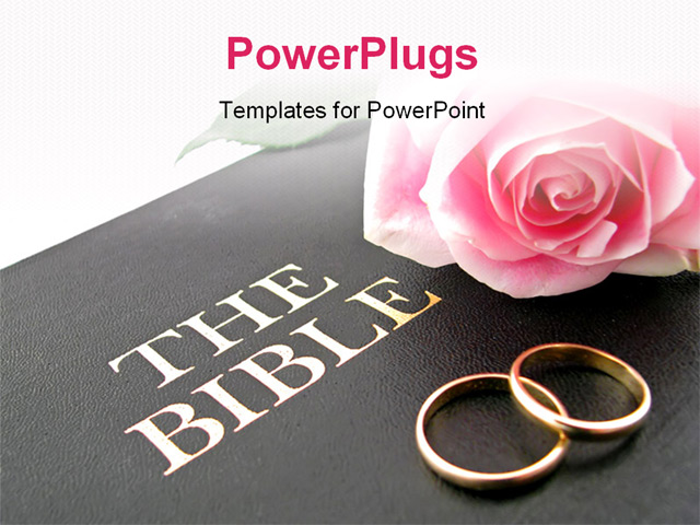 PowerPoint PPT Template called TheBible about wedding event and