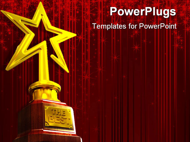 gold star award template. PowerPoint PPT Template