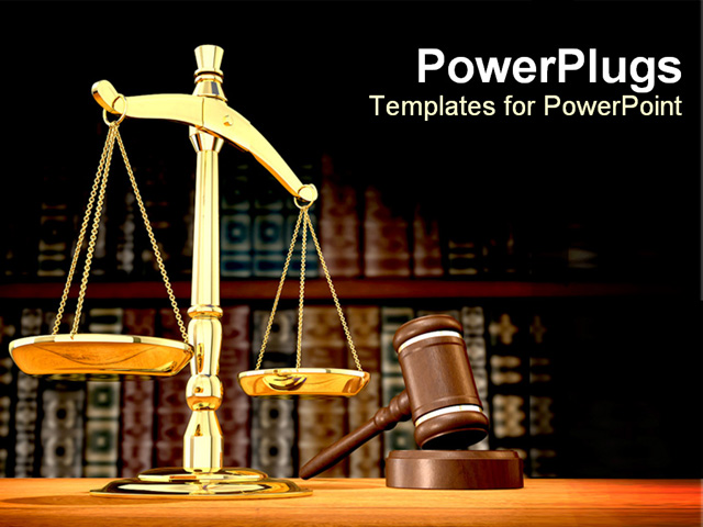 PowerPoint Template - justice807 - PPT Backgound about justice ...