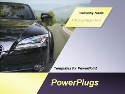 Car powerpoint template presentation template cars presentation powerpoint template car is running on the highway with the blue toneelgroepblik Choice Image