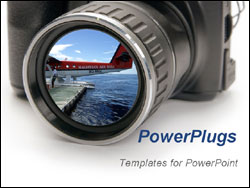 powerpoint template: professional photography camera photos, Modern powerpoint