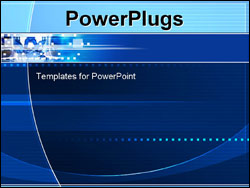 powerpoint template: technology modern geometric electricity blue, Modern powerpoint