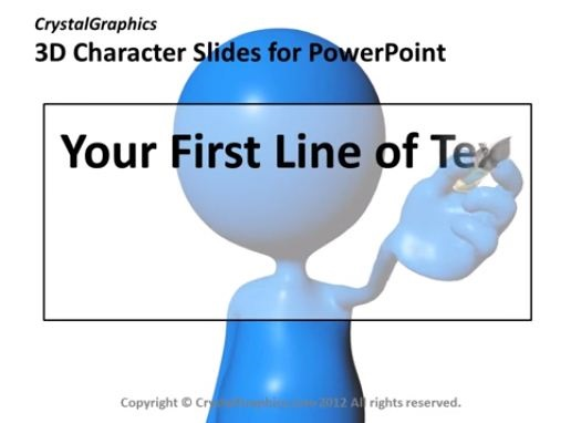 PowerPoint Slide-Growing Graph-3D-Character-Animated-Blue-CG32