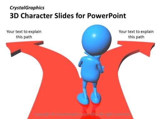 PowerPoint Slide-Team Support-3D-Character-Animated-Blue-CG42