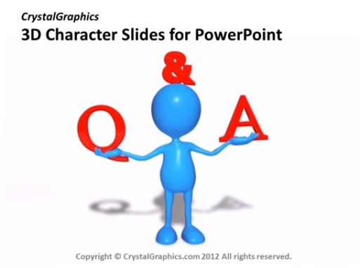 PowerPoint Slide - Networking - 3D Character - Animated - Blue - 4 Characters - CG21