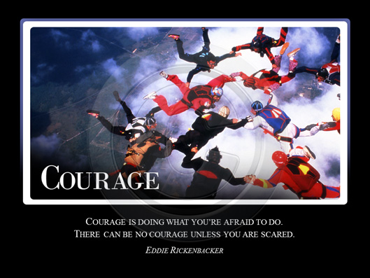 Courage Crystalgraphics Motivational Slides For Powerpoint