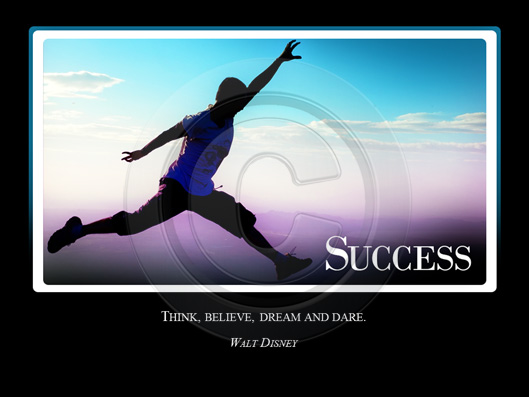 Success Crystalgraphics Motivational Slide For Powerpoint